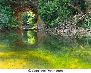 Big Natural Bridge in Rakov Skocjan - Big Natural Bridge on ...