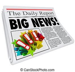Big News Announcement Headline Newspaper Alert - Big News...