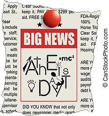 Big News Day Atheist - Announcement in the newspaper - news...