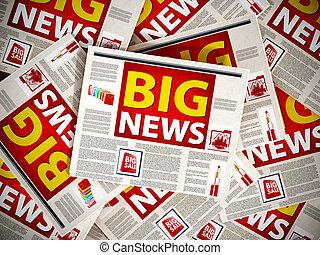 Big news newspaper headline