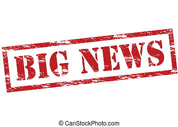 Rubber stamp with text big news inside, vector illustration