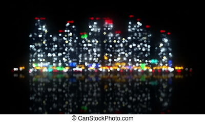big night city out of focus loopable animation