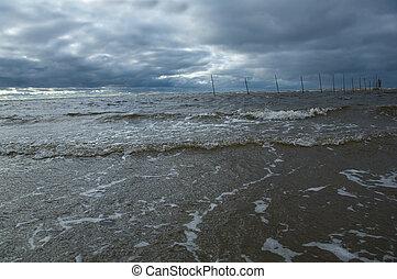 Big ocean wave breaking