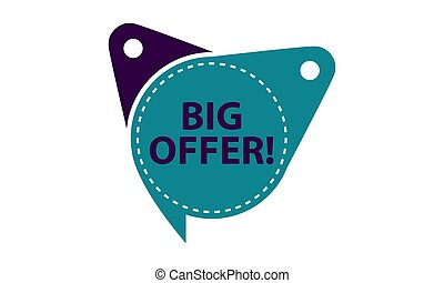 Big Offer Tag Template Isolated