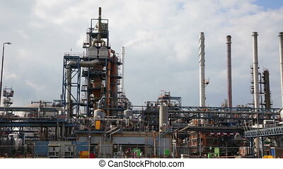 Big oil refinery, Rotterdam, Holland