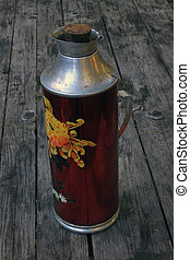 Big old red thermos