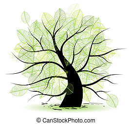 Big old tree, green leaf
