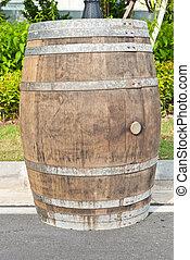 Big old wine barrel, on the street