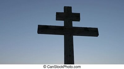 big old wooden orthodox cross.