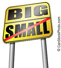 big or small size matters - big small size matters no deal...