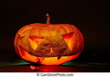 big orange pumpkin jack o lantern