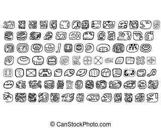 Big pack of maya glyphs