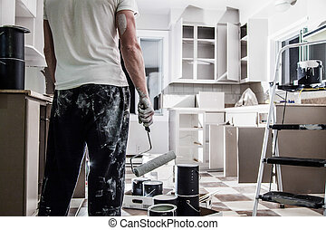 Big Painting Job ! - Mess of All kind of Painting Equipment...
