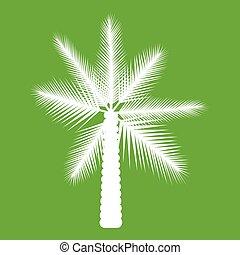 Big palm tree icon green