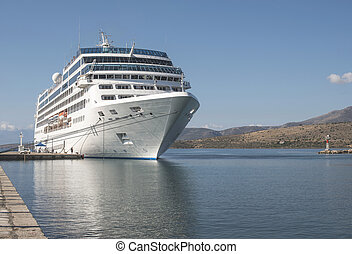 Big passenger ship in Greece