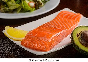Big piece of a salmon