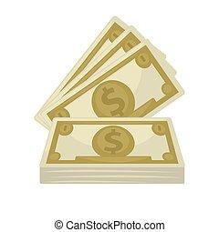 Big pile of cash. Concept   money.