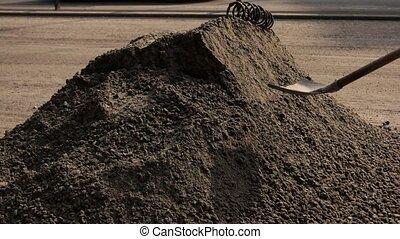 Big pile of dirt.