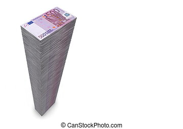 Big Pile of Money - 500 Euro Notes - Wide