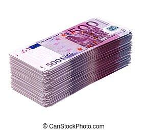 Big pile of money isolated on white
