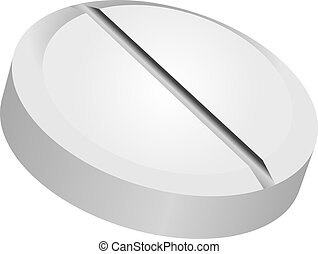 Big pill - Standard large pill for medical use. Vector ...