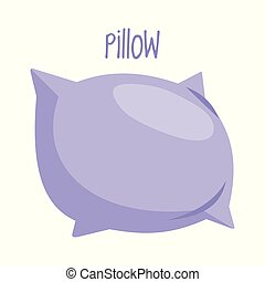 Pillow on white background