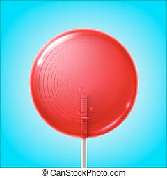 Big pink lollipop