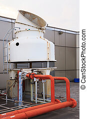 Big Pipeline to cooling system fan of Building