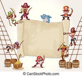 cartoon pirate children