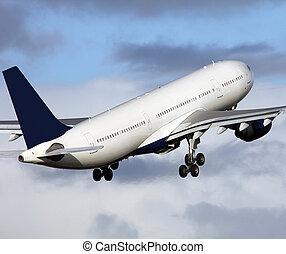 big plane taking off
