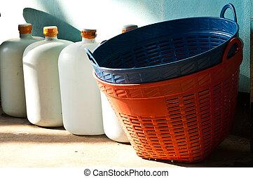 big plastic basket