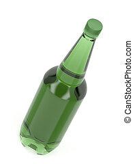 Big plastic beer bottle