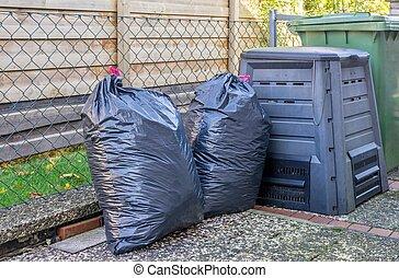 Big Plastic Bin Bags of Rubbish