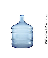 Big plastic bottle. On a white background.