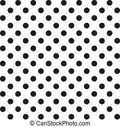 Big Polka dots, Seamless Pattern - Large black polka dots...