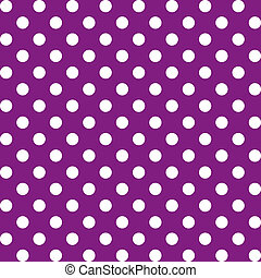 Big Polka dots, Seamless Pattern - Large white polka dots...