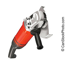 Big powerful angle grinder isolated on white