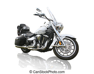 motorcycle on white background - big powerful motorcycle on...