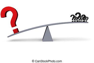 Big Problem Outweighs Little Concerns Illustration - A large...