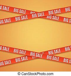 big, prodej, červeň, banners.