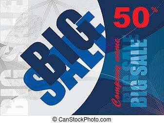 big, prodej, vektor, grafické pozadí