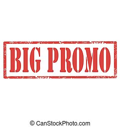 Big Promo-stamp - Grunge rubber stamp with text Big Promo, ...