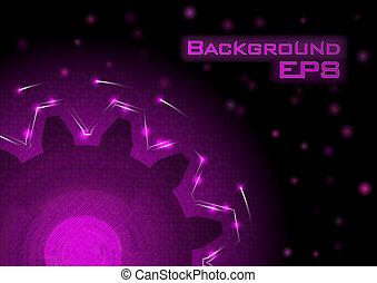 purple cogwheel