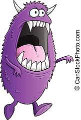 Big Purple Halloween Monster Vector