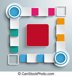 Big Quadrat Four Colored Batch Rectangles PiAd - Infographic...