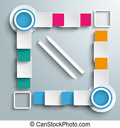 Big Quadrat Two Arrows Four Colored Batch Rectangles PiAd -...