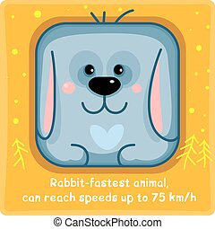 Big rabbit square icon