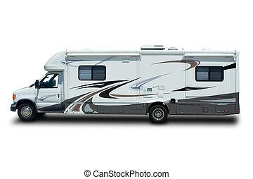Recreational Vehicle - Big Recreational Vehicle Isolated on ...