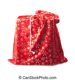 red bag - big red bag with gifts