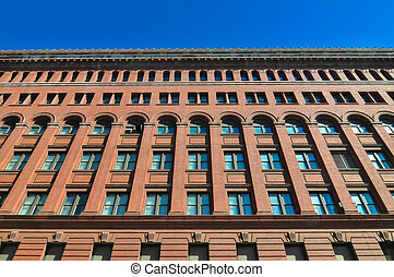 big red brick building in wshington dc